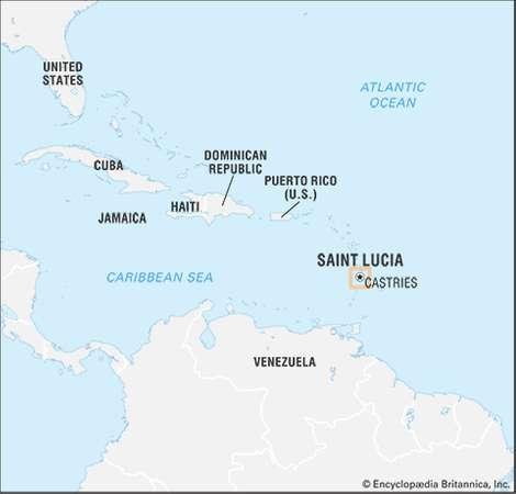 Saint Lucia Caribbean Location